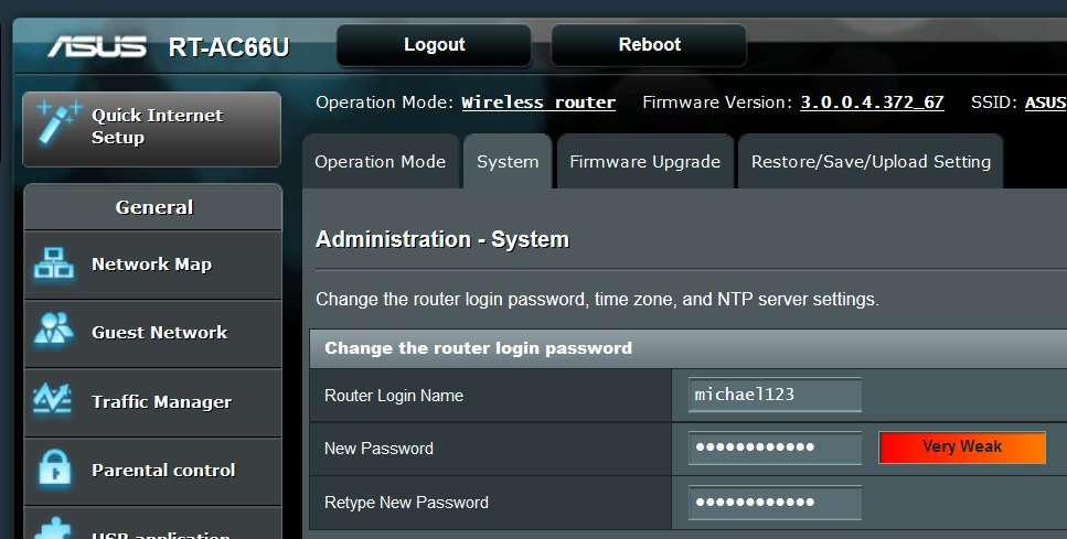 how to change netgear router password