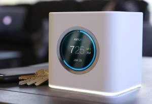 A touch screen Ubiquiti AmpliFi router